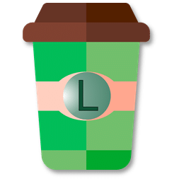 Mug à café vert en taille L