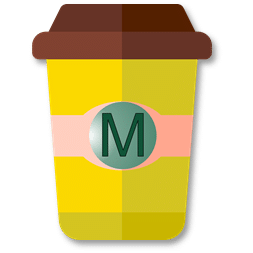 Mug à café jaune en taille M