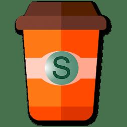 mug à café orange en taille S