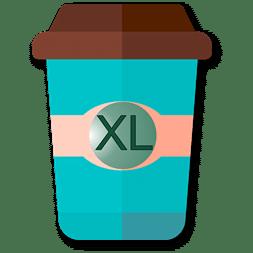 Mug à café bleu en taille XL