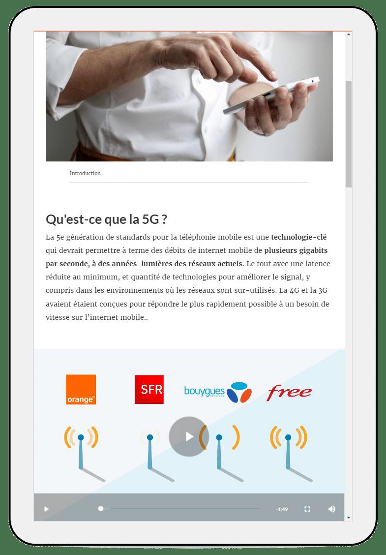 Texte expliquant qu'est ce que la 5G