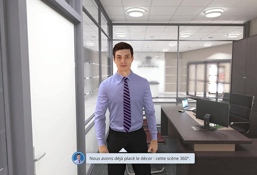 Un homme dans une réalité virtuel en 360°